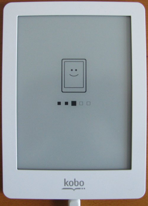Kobo eReader powering up