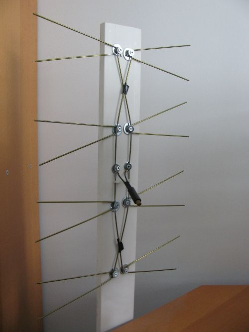 TV Antenna made from clothes hangers