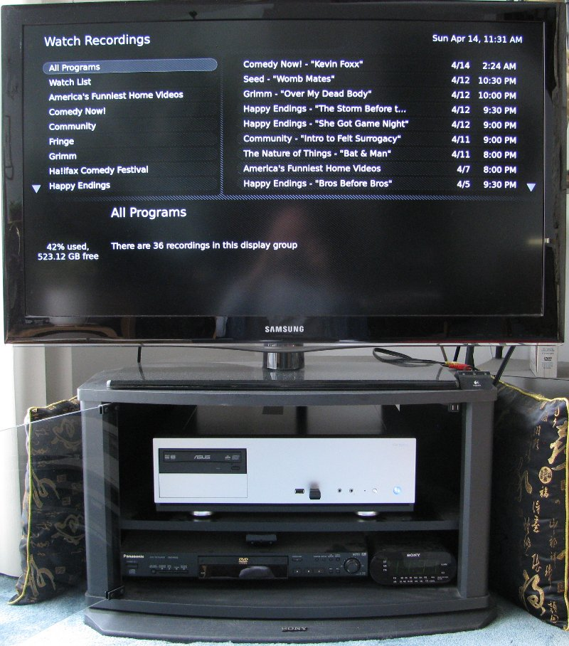 Completed MythTV PVR in operation